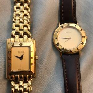 2 Vintage authentic Gucci women's watches 1990s